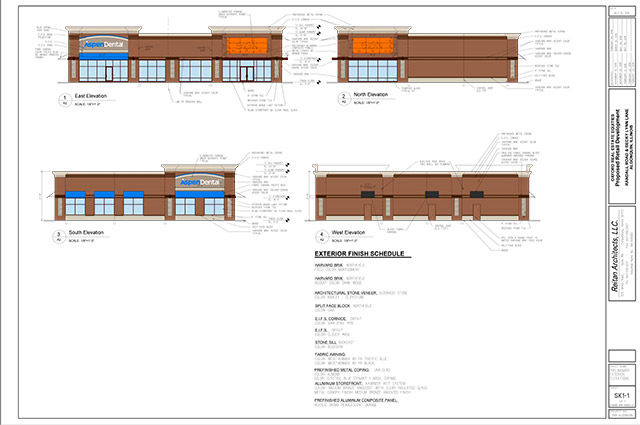 walmart outlot algonquin elevation rendering